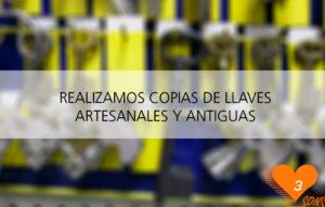 Copias de llaves artesanales y antiguas